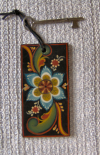 Vest Agder Key Tag-suede cord