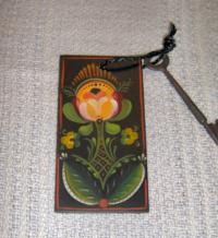 Os style Key Tag-black cord