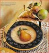 Footed Pear Plate w/Gripper